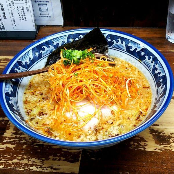「味噌らーめん+辛ネギ」@東京こだわり麺屋 らーめん殿の写真