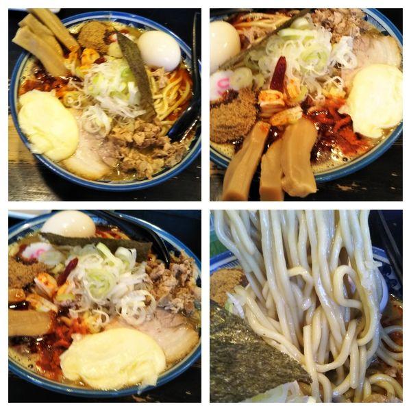 「濃厚狼煙ラーメン大盛り+カレーに変更+チーズ(スパイシー)」@狼煙 〜NOROSHI〜の写真