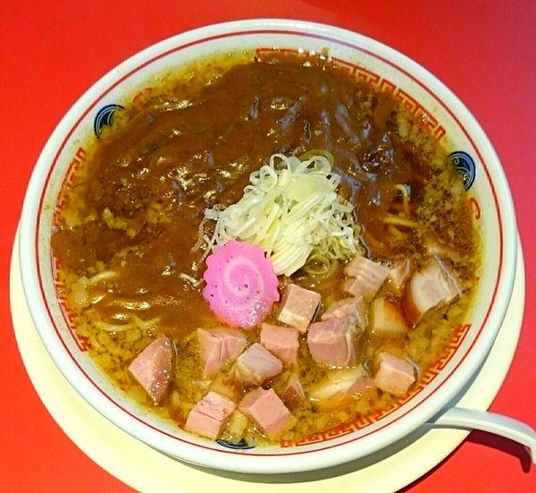 「カレーラーメン 餃子セット」@ソラノイロ食堂の写真